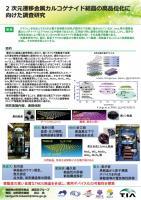 『2次元遷移金属カルコゲナイド結晶の高品位化に向けた調査研究(2016.10.11)』の画像