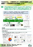 『TIA_かけはし:計算科学とデータ科学の連携による実験データ高度解析手法の開発(2_枚)(2016.10.11)』の画像